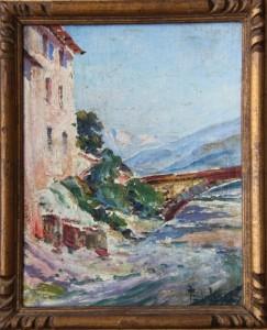 1930 - Peinture sur carton de Paul Léveré, peintre officiel de la Marine.