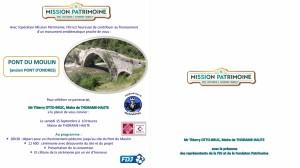 Invitation 15 septembre 2018 - Pont du Moulin