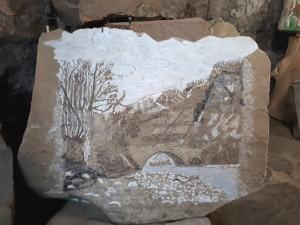 Roger Blanc - Peinture sur pierre